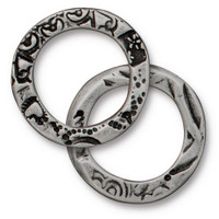 Flora Ring Large, Antiqued Pewter, 20 per Pack