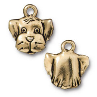 Spot Charm, Antiqued Gold Plate, 20 per Pack