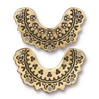 Marrakesh Link, Antiqued Gold Plate, 20 per Pack