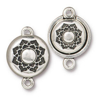 Lotus Magnetic Clasp Set, Antiqued Silver Plate, 5 per Pack
