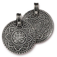 Eight Signs Pendant, Antiqued Pewter, 10 per Pack