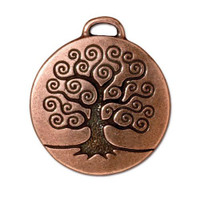 Tree of Life Pendant, Antiqued Copper Plate, 10 per Pack