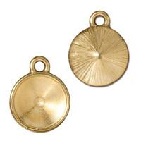 Plain 12mm Rivoli Bezel Drop, Gold Plate, 20 per Pack