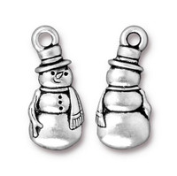 Frosty Charm, Antiqued Silver Plate, 20 per Pack