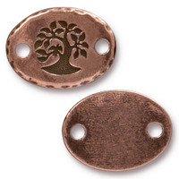 Bird In A Tree Link, Antiqued Copper Plate, 20 per Pack