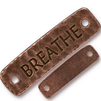 Breathe Link, Antiqued Copper Plate, 10 per Pack