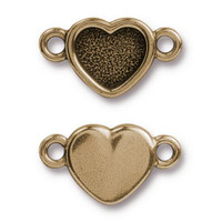 Clearance: Heart Bezel Link, Oxidized Brass Plate, 20 per Pack