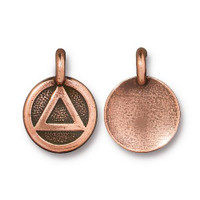 Recovery Charm, Antiqued Copper Plate, 20 per Pack
