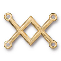 Clearance: Criss Cross Link, Gold Plate, 20 per Pack