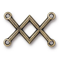 Clearance: Criss Cross Link, Oxidized Brass Plate, 20 per Pack