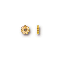 Beaded 5mm Daisy Spacer Bead, Gold Plate, 250 per Pack