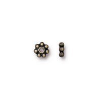 Beaded 5mm Daisy Spacer Bead, Oxidized Brass Plate, 250 per Pack
