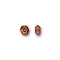 Faceted 5mm Spacer Bead, Antiqued Copper Plate, 100 per Pack