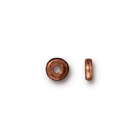 Disk 5mm Spacer Bead, Antiqued Copper Plate, 250 per Pack