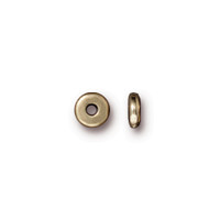 Disk 5mm Spacer Bead, Oxidized Brass Plate, 250 per Pack
