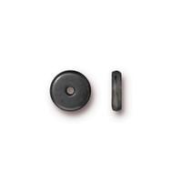 Disk 7mm Spacer Bead, Black Plate, 100 per Pack