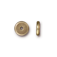 Disk 8mm Spacer Bead, Oxidized Brass Plate, 100 per Pack