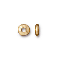 Nugget Large Hole Spacer Bead 7mm, Gold Plate, 100 per Pack