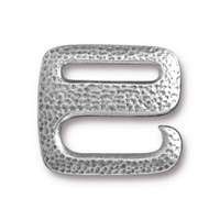 Clearance: Distressed E Hook, Antiqued Pewter, 10 per Pack