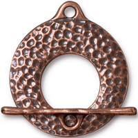Artisan Clasp Set, Antiqued Copper Plate, 10 per Pack