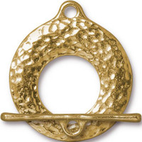 Artisan Clasp Set, Gold Plate, 10 per Pack