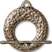 Artisan Clasp Set, Oxidized Brass Plate, 10 per Pack
