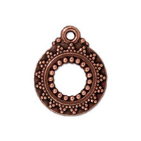 Bali Clasp Ring, Antiqued Copper Plate, 20 per Pack