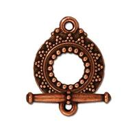 Bali Clasp Set, Antiqued Copper Plate, 10 per Pack