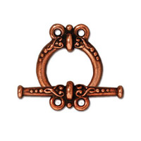 Heirloom 2 Loop Clasp Set, Antiqued Copper Plate, 10 per Pack