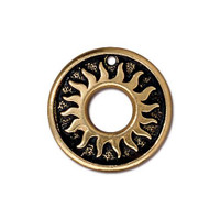 Del Sol Ring, Antiqued Gold Plate, 20 per Pack