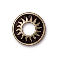 Del Sol Ring, Oxidized Brass Plate, 20 per Pack