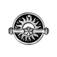 Del Sol Clasp Set, Antiqued Silver Plate, 10 per Pack