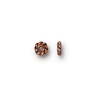 Twisted 4mm Spacer Bead, Antiqued Copper Plate, 500 per Pack