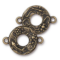 Koi Link, Oxidized Brass Plate, 10 per Pack