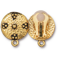 Opulence Clip-on Earring, Antiqued Gold Plate, 6 per Pack