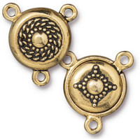 Opulence Magnetic Clasp Set, Antiqued Gold Plate, 5 per Pack