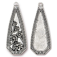 Blossom Pendant, Antiqued Silver Plate, 6 per Pack