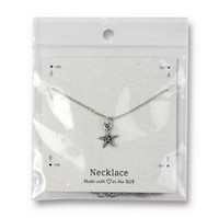Sea Star Necklace, Antiqued Rhodium Plate, 3 per Pack