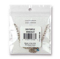 Sea Turtle Bracelet, Antiqued Rhodium Plate, 3 per Pack