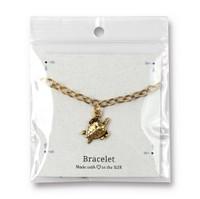 Sea Turtle Bracelet, Antiqued Gold Plate, 3 per Pack