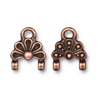 Oasis Stitch-in Link, Antiqued Copper Plate, 20 per Pack
