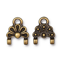 Oasis Stitch-in Link, Oxidized Brass Plate, 20 per Pack