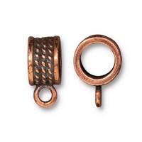 Rope Bail 8mm, Antiqued Copper Plate, 20 per Pack