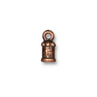 Palace Cord End 2mm, Antiqued Copper Plate, 20 per Pack