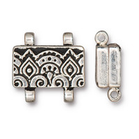 Temple Stitch-in Magnetic Clasp, Antiqued Silver Plate, 5 per Pack