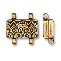 Temple Stitch-in Magnetic Clasp, Antiqued Gold Plate, 5 per Pack