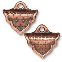Marrakesh Crimp End, Antiqued Copper Plate, 10 per Pack