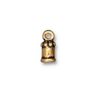 Palace Cord End 2mm, Antiqued Gold Plate, 20 per Pack