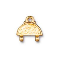 Hammertone Stitch-in Link, Gold Plate, 20 per Pack