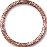 Hammertone 1.25 inch Ring, Antiqued Copper Plate, 10 per Pack
